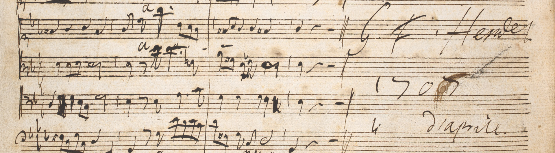 Final page of the autograph score of Dixit Dominus © British Library Board (R.M.20.f.1)