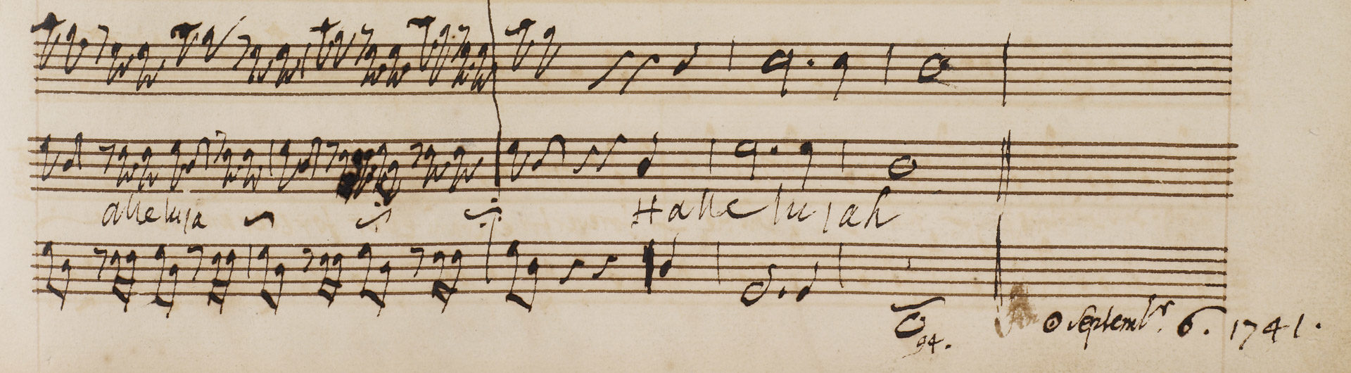End of the Hallelujah chorus from the autograph score of Messiah © British Library Board (R.M.20.f.2)