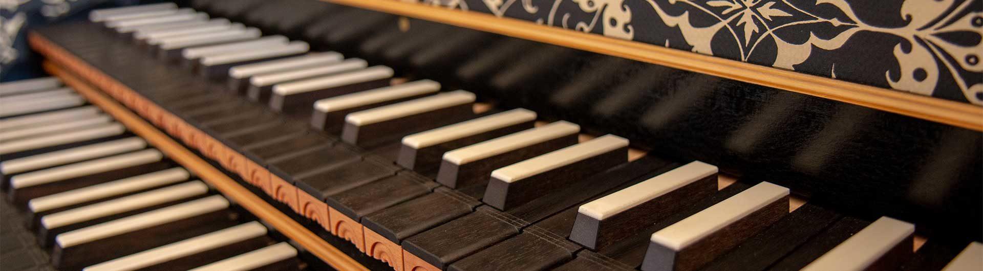 Keyboard of harpsichord by Matthias Griewisch (after Ioannes Ruckers) © Matthew Gardner