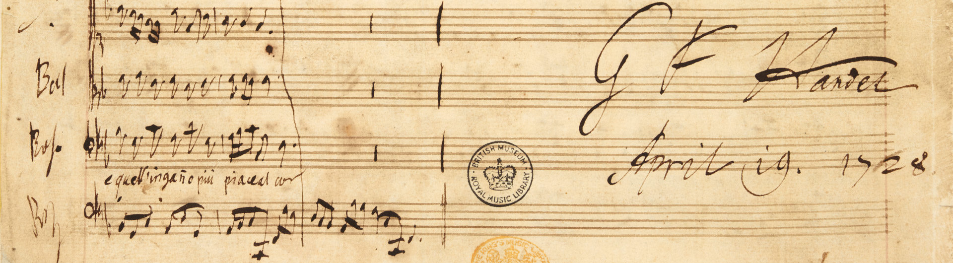 Final page of the autograph score of Tolomeo © British Library Board (R.M.20.d.1)